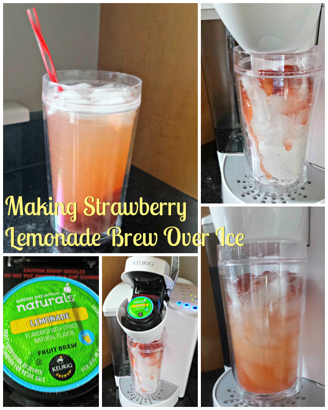 How to make strawberry lemonade with Keurig #brewoverice #shop #brewitup