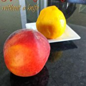How to peel the perfect peach without a knife