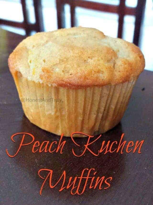 Peach Kuchen Muffins