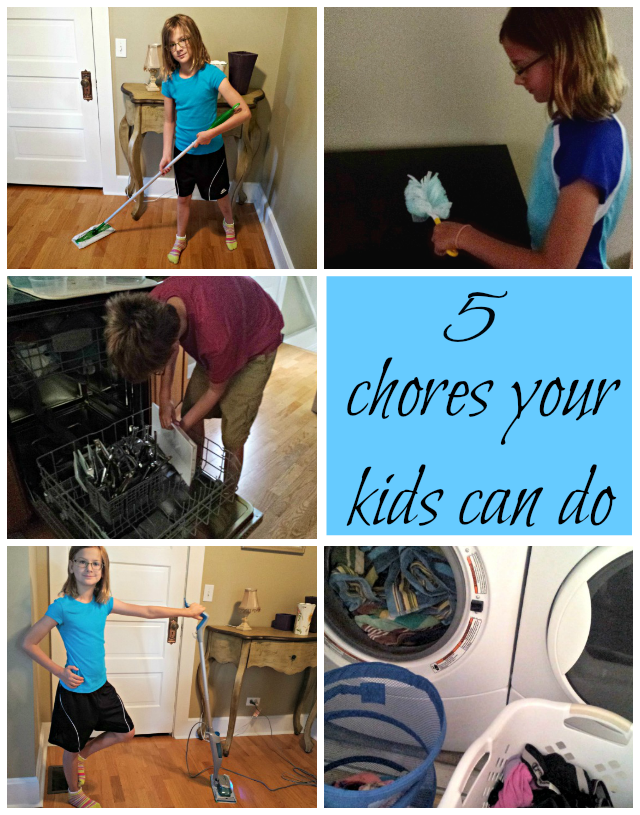5 Easy Chores Your Kids Can (and should?) Do