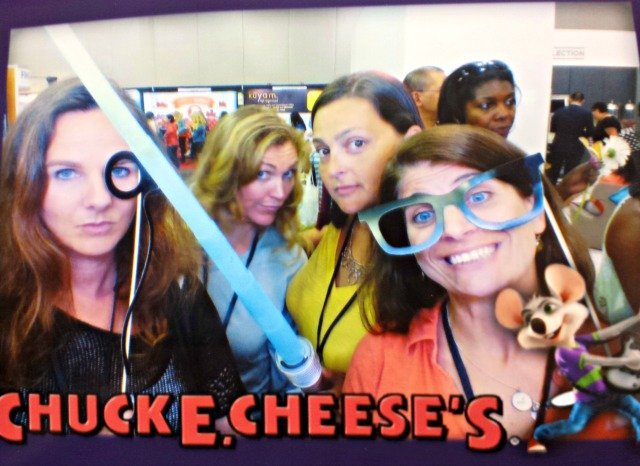 Photo booth fun with Chuck E Cheese's