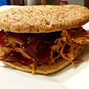 Delicious homemade pulled pork sandwich