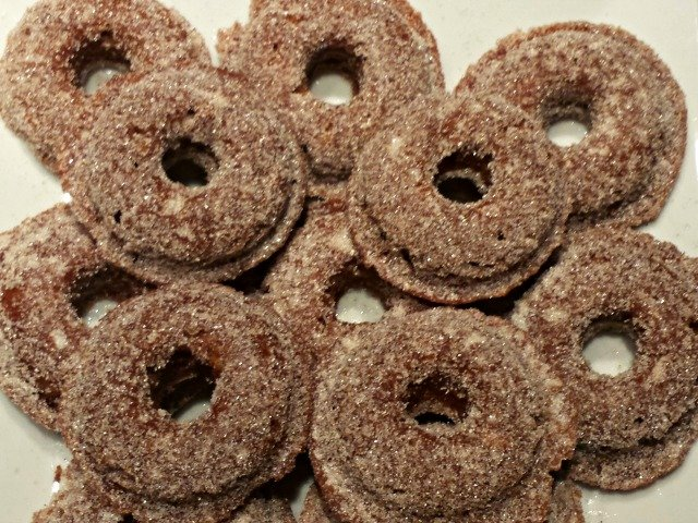 Baked mini apple cider donuts