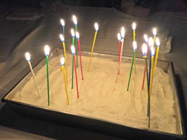 My birthday cake with candles