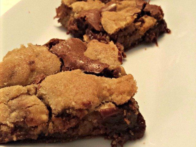 Closeup of candy bar cookie brownies