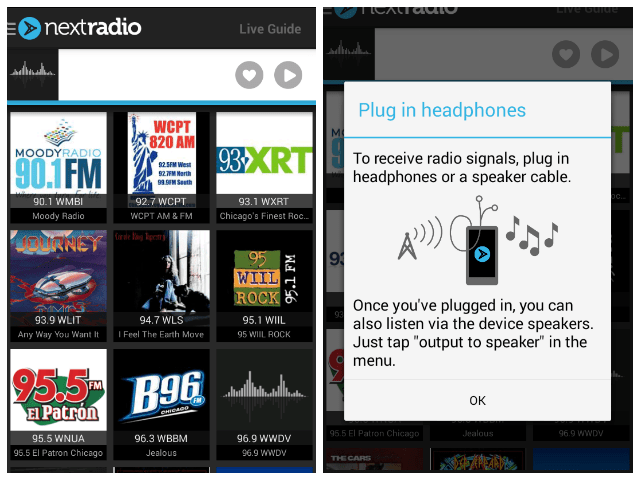 How to use Next Radio app