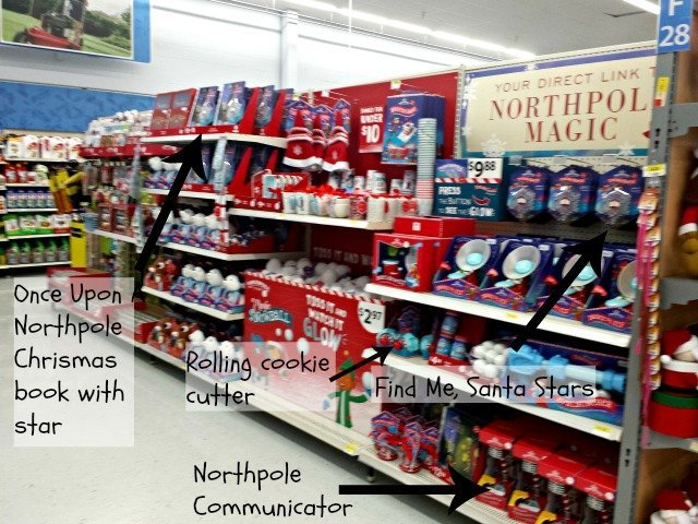Selection of Northpole Christmas items at Walmart