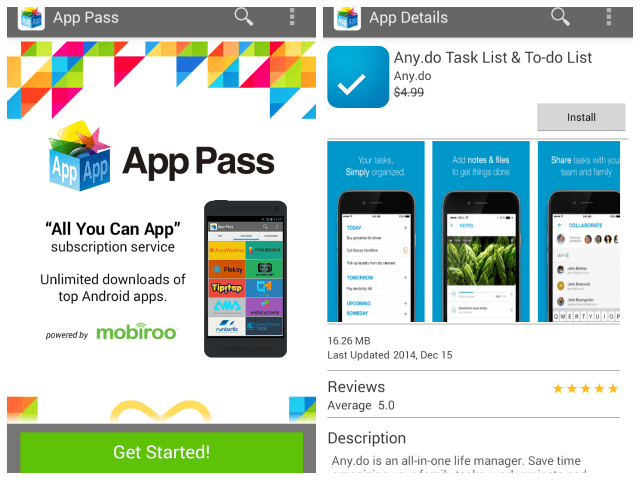 Screenshot of App Pass