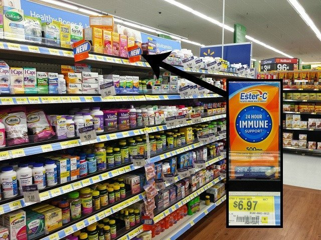 Ester-C in multi-vitamin aisle at Walmart