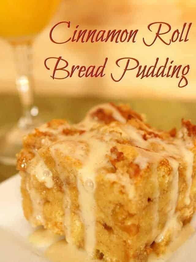 Cinnamon roll bread pudding recipe