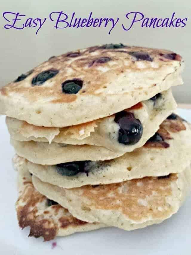 Easy Blueberry Pancakes