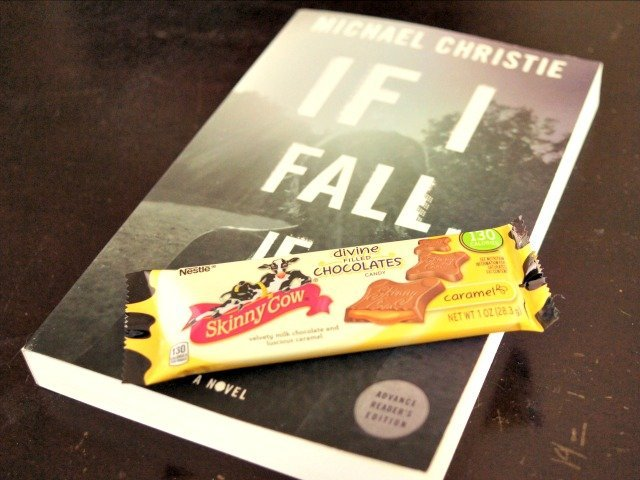 Enjoying Skinny Cow candies and a book