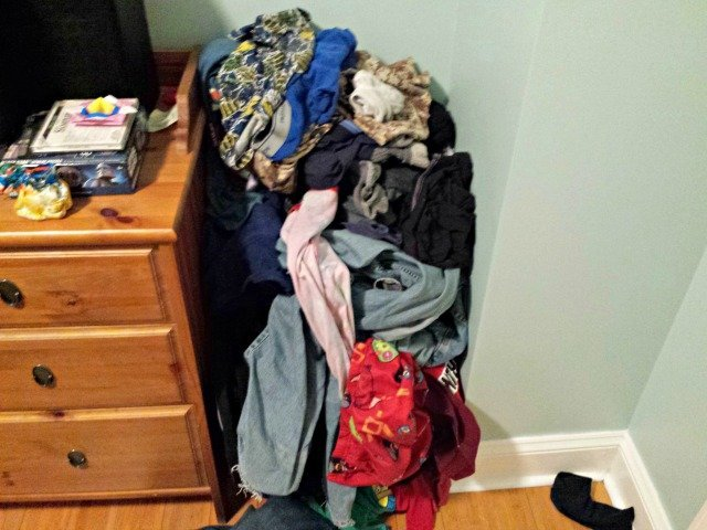 Huge pile of laundry