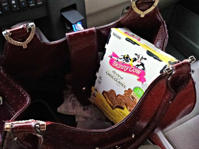 Skinny cow chocolates in my purse