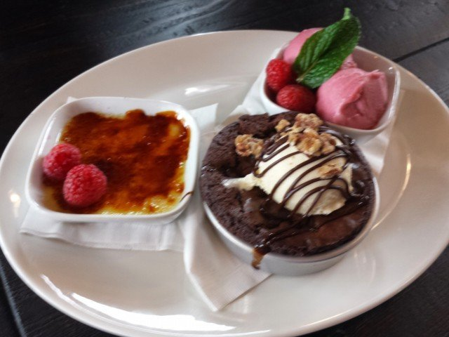 Dessert Trio at Granite City Food and Brewery