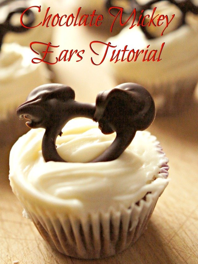 Chocolate Mickey Ears tutorial