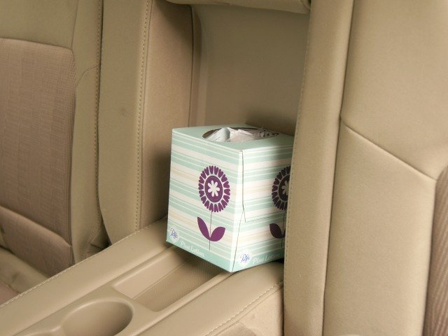 Tissue boxes make great disposable trash cans
