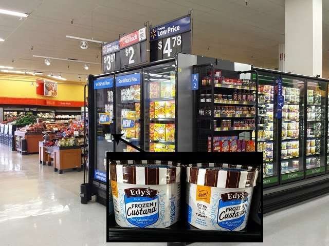 Edy's frozen custard at Walmart