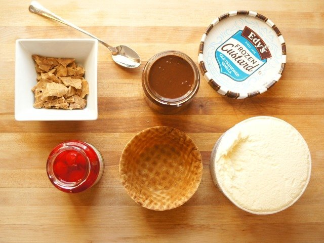 Ingredients to make Drumstix frozen custard