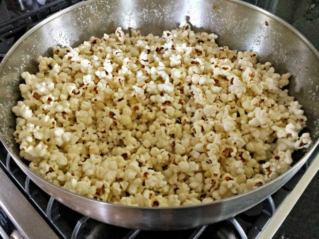 Big bowl of popcorn