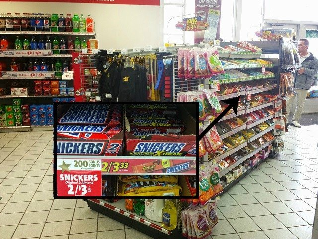 Snickers at Speedway