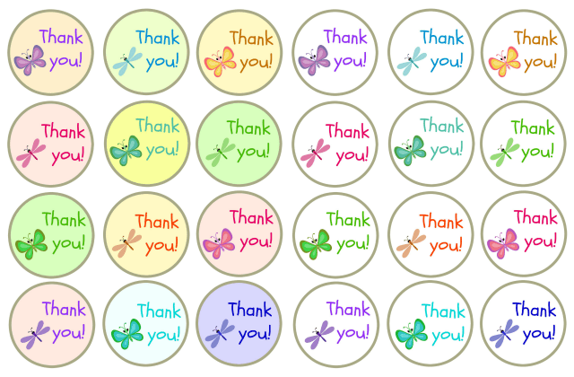 Thank you gift tag collage