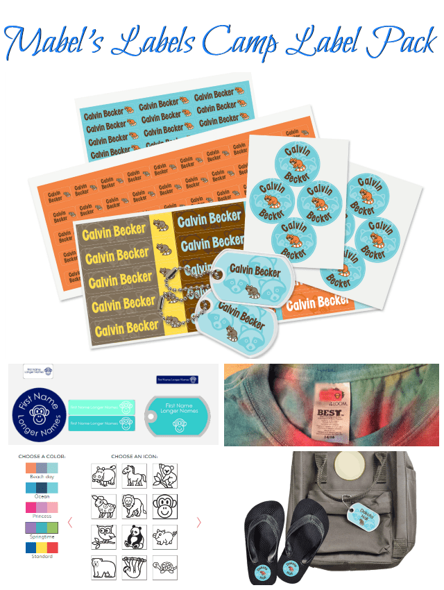 Mabel's Labels Camp Label Pack has all you need to help avoid lost items