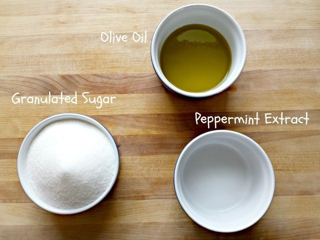 Peppermint sugar scrub ingredients