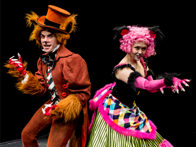 Fox and Kitty from Pinocchio at the Marriott Theatre