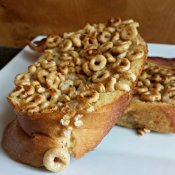 Honey Nut Cheerios Crusted French Toast