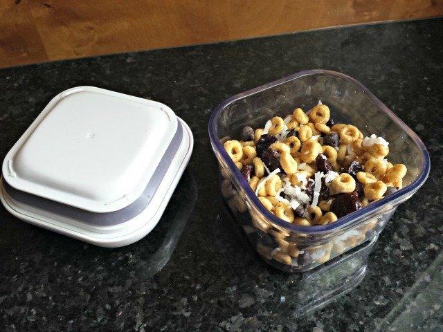 Honey Nut Cheerios trail mix
