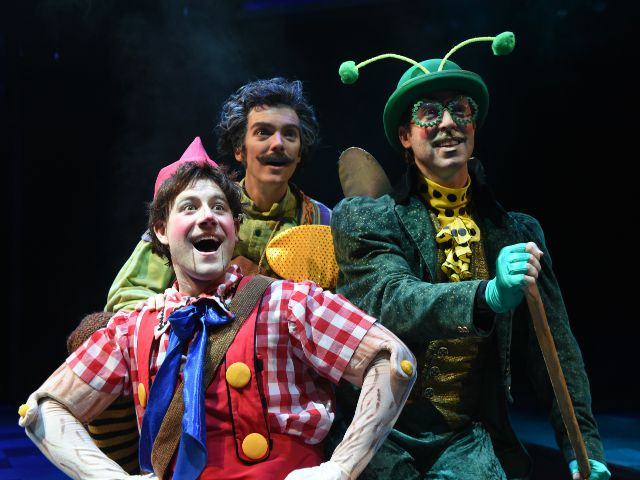 Pinocchio with Hopper and Gepetto at the Marriott Theatre