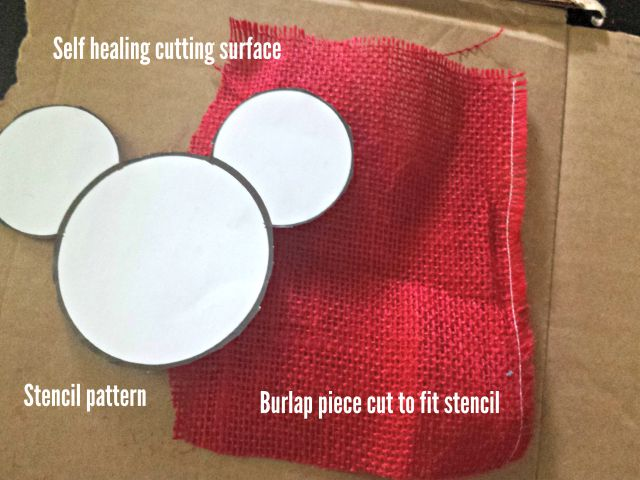 Prep your burlap before cutting