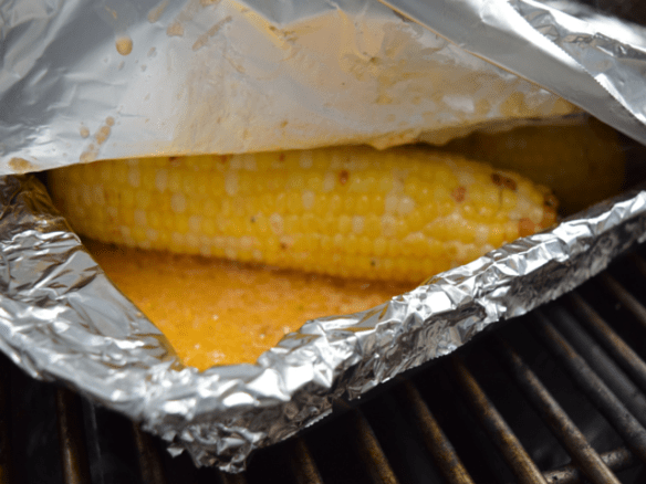 Gorgeous grilled chipotle corn