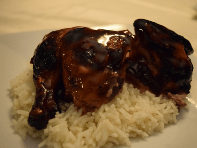 Grilled Cornish Hen plated