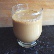 Cup of homemade pumpkin spice latte