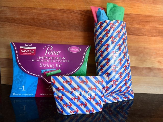 DIY duct tape pouch for Poise Impressa