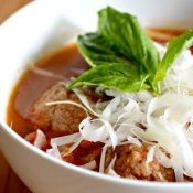 Enjoy a bowl of Italian meatball soup
