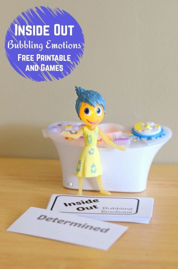 Inside Out Bubbling Emotions Printable and Games