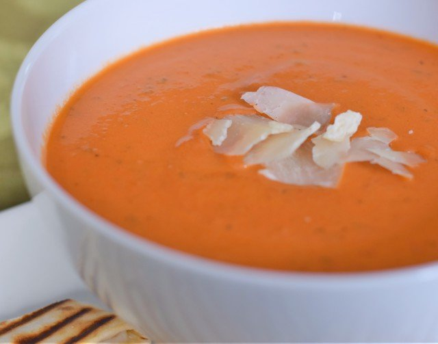 Enjoy some tomato basil soup in 30 minutes