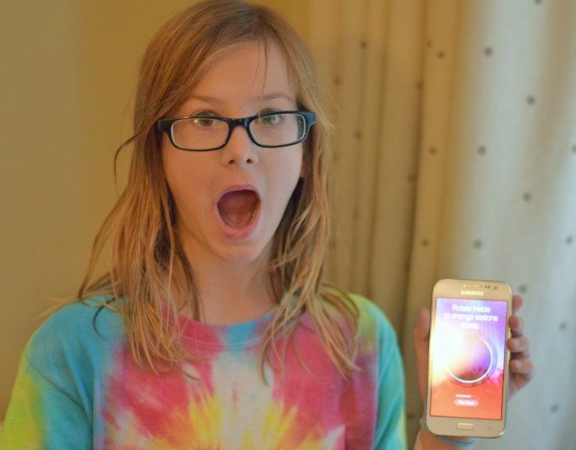 Shock and joy of a new cell phone