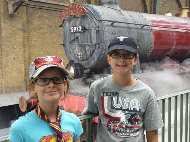 Wee ones at Hogwarts at Universal Studios