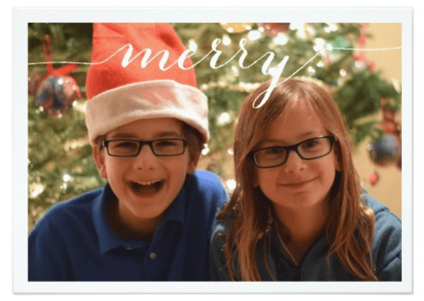 Zazzle Merry Card example