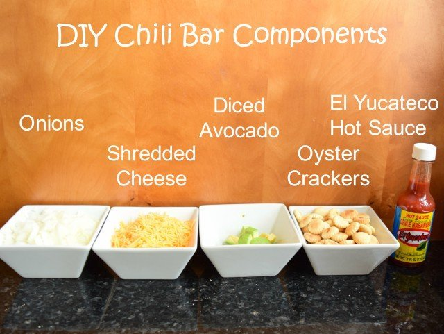 DIY Chili Bar Components