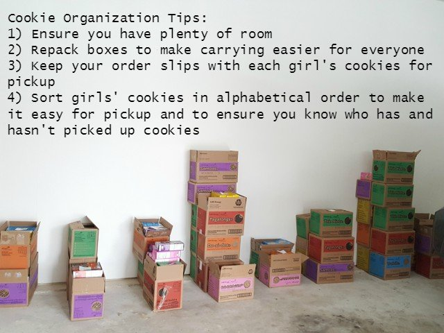 Girl Scout Cookie organization tips for Cookie Moms