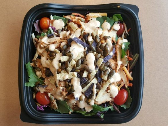 Delicious Chick-fil-A southwest salad ready to eat