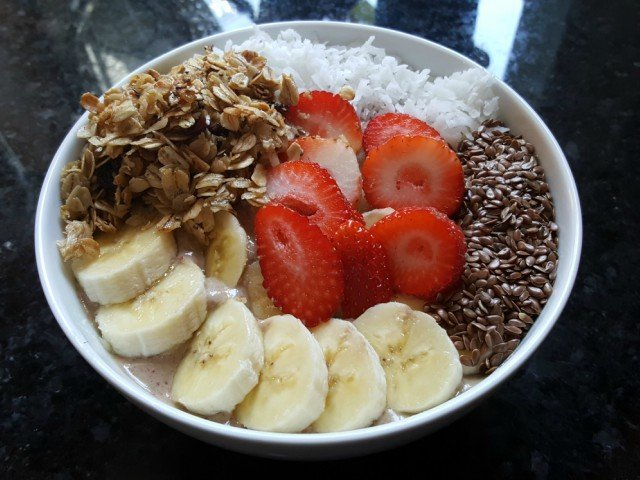 Enjoy your protein power smoothie bowl