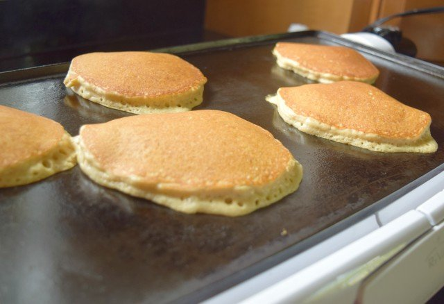Cook oatmeal pancakes slowly and thoroughly