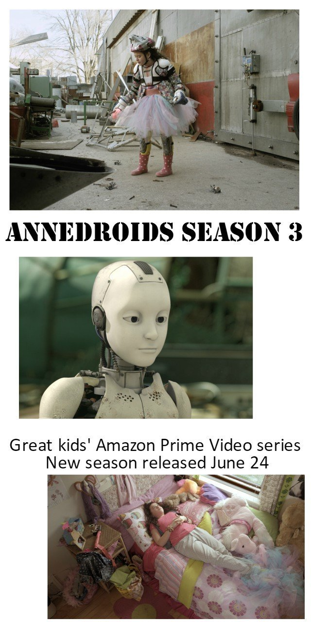 Annedroids Season 3 on Amazon Prime Video June 24. Great Emmy nominated kids' television series with great STEAM focus. Entertaining and engaging with a strong female lead. Kids solve their own problems.