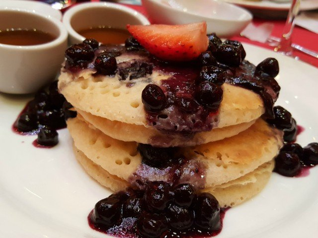 Dairy free pancakes at Cat in the Hat breakfast Carnival Cruise